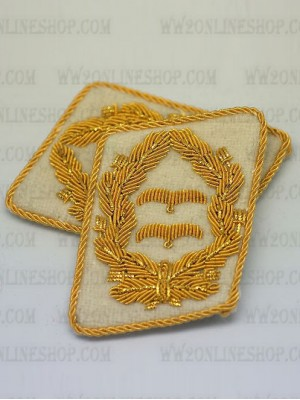 Replica of Luftwaffe Lt General Collar Tabs (German Collar Tabs) for Sale (by ww2onlineshop.com)