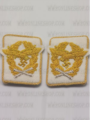 Replica of Luftwaffe Marshal Collar Tabs (German Collar Tabs) for Sale (by ww2onlineshop.com)