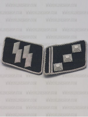 Replica of SS 1st Lieutenant (SS-Oberstrumfuhrer) Collar Tabs (German Collar Tabs) for Sale (by ww2onlineshop.com)