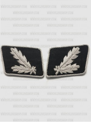 Replica of SS Brigadier General.(SS Oberfuhrer) Collar Tabs (German Collar Tabs) for Sale (by ww2onlineshop.com)