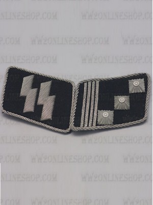 Replica of SS Captain(SS-Hauptstrumfuhrer) Collar Tabs (German Collar Tabs) for Sale (by ww2onlineshop.com)