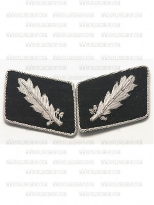 Replica of SS Col.(SS Standarfuhrer) Collar Tabs (German Collar Tabs) for Sale (by ww2onlineshop.com)