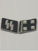 SS Lt-Col.(SS Obersturmbannfuhrer) Collar Tabs