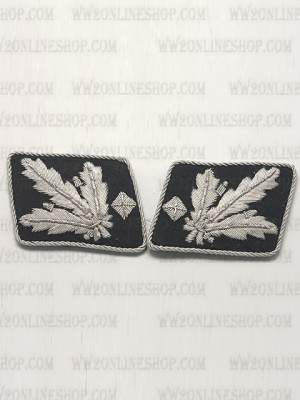Replica of SS Lt General.(SS Gruppenfuhrer) Collar Tabs (German Collar Tabs) for Sale (by ww2onlineshop.com)