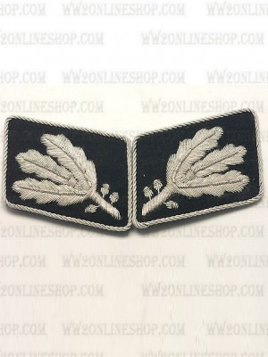 Replica of SS Lt General.(SS Gruppenfuhrer)Collar Tabs prior to 1942 (German Collar Tabs) for Sale (by ww2onlineshop.com)