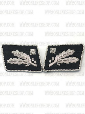 Replica of SS Major General.(SS Brigadefuhrer) Collar Tabs prior to 1942 (German Collar Tabs) for Sale (by ww2onlineshop.com)