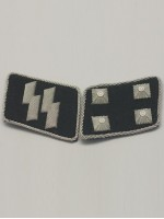 SS Major(SS-Sturmbannfuhrer) Collar Tabs