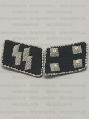 Replica of SS Major(SS-Sturmbannfuhrer) Collar Tabs (German Collar Tabs) for Sale (by ww2onlineshop.com)