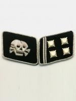 SS Skull Lt-Col.(SS Obersturmbannfuhrer) Collar Tabs