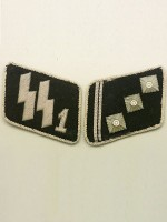 SSVT 1st Lieutenant (SS-Oberstrumfuhrer) Collar Tabs