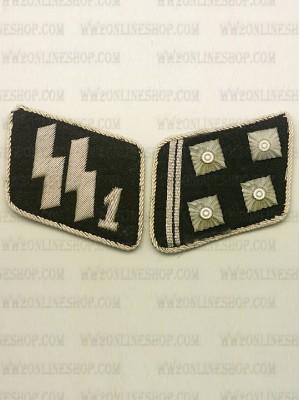 Replica of SSVT Lt-Col.(SS Obersturmbannfuhrer) Collar Tabs (German Collar Tabs) for Sale (by ww2onlineshop.com)