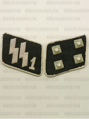 Replica of SSVT Major(SS-Sturmbannfuhrer) Collar Tabs (German Collar Tabs) for Sale (by ww2onlineshop.com)