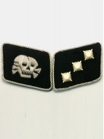 Waffen SS Skull Lieutenant (SS-Unterstrumfuhrer) Collar Tabs