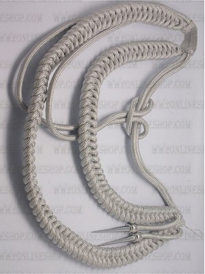 Replica of German Officer s Aiguillette (Silver) (German Aiguillettes) for Sale (by ww2onlineshop.com)