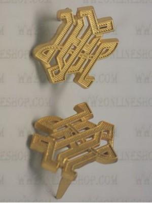 Replica of LAH Leibstandarte Shoulder Board Cyphers in Gold (Shoulder Board Cyphers) for Sale (by ww2onlineshop.com)