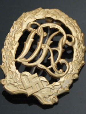Replica of DRL Sport Badge in Gold (Party & Sport Badges) for Sale (by ww2onlineshop.com)