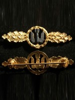 Front Flying Clasp of the Luftwaffe in Gold (Frontflugspange)