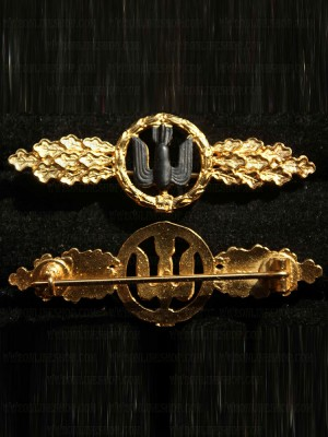 Replica of Front Flying Clasp of the Luftwaffe in Gold (Frontflugspange) (WWII German Medals) for Sale (by ww2onlineshop.com)