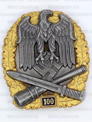Replica of General Assault Badge 100 Engagements (WWII German Badges) for Sale (by ww2onlineshop.com)