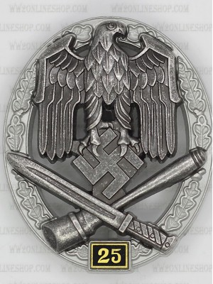 Replica of General Assault Badge 25 Engagements (WWII German Badges) for Sale (by ww2onlineshop.com)