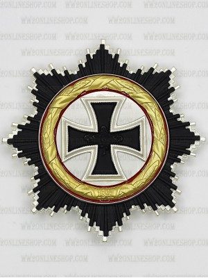 Replica of German Cross in Gold de-nazified 1957 Version (5-Piece) (WWII German Medals) for Sale (by ww2onlineshop.com)