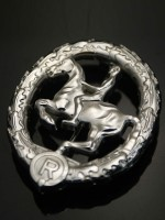 German Equestrian Badge in Silver (German Riding Badge: Das Reiterabzeichen)