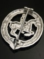 Replica of German Equestrian Badge in Silver (German Riding Badge: Das Reiterabzeichen) (Party & Sport Badges) for Sale (by ww2onlineshop.com)