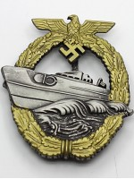 German Kriegsmarine E-Boat Badge 2nd Pattern