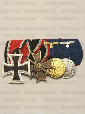 Replica of WW2 German 4R Medal Bar(#1) (German Medal Bars) for Sale (by ww2onlineshop.com)