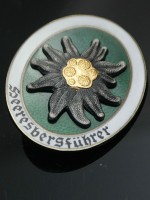 German Mountain Troop Paratrooper Edelweiss Metal Badge