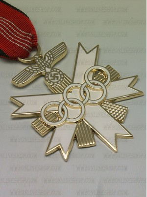 Replica of German Olympic Decoration 2nd Class (Party & Sport Badges) for Sale (by ww2onlineshop.com)