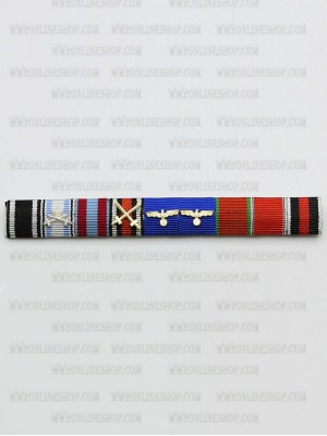 Replica of Eduard Wolrath Christian Dietl s Ribbon Bar (German Ribbon Bars) for Sale (by ww2onlineshop.com)