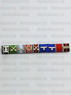Replica of Field Marshal Friedrich Wilhelm Ernst Paulus s Ribbon Bar (German Ribbon Bars) for Sale (by ww2onlineshop.com)