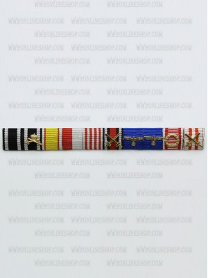 Replica of Generaloberst Adolf Strauss s Ribbon Bar (German Ribbon Bars) for Sale (by ww2onlineshop.com)