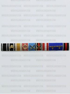Replica of Walter Karl Ernst August von Reichenau s Ribbon Bar (German Ribbon Bars) for Sale (by ww2onlineshop.com)