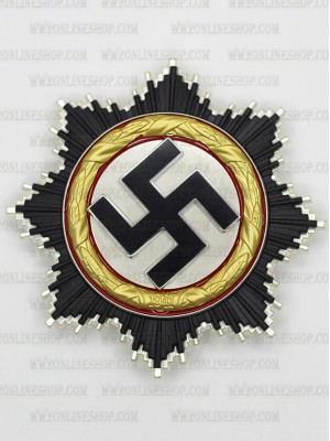 Replica of German WWII German Cross in Gold (Deutsches Kreuz) (5-Piece) (WWII German Medals) for Sale (by ww2onlineshop.com)