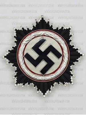 Replica of German WWII German Cross in Silver (Deutsches Kreuz) (5-Piece) (WWII German Medals) for Sale (by ww2onlineshop.com)