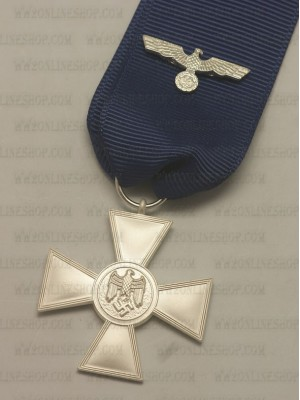 Replica of German WWII Heer 18 Year Service Medal (WWII German Medals) for Sale (by ww2onlineshop.com)