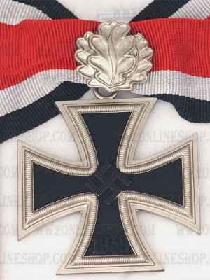 Replica of German WWII Knight Cross of the Iron Cross with Oak Leaf (WWII German Medals) for Sale (by ww2onlineshop.com)