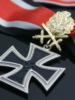 German WWII Knight's Cross with Golden Oak Leaves, Swords and Diamonds