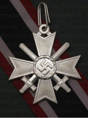 Replica of German WWII Knights Cross of the War Merit Cross with Swords (WWII German Medals) for Sale (by ww2onlineshop.com)