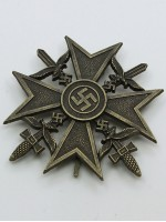 German WWII Spanish Cross in Bronze with Swords