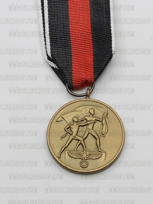 Replica of German WWII The October 1. 1938 Commemorative Medal (WWII German Medals) for Sale (by ww2onlineshop.com)