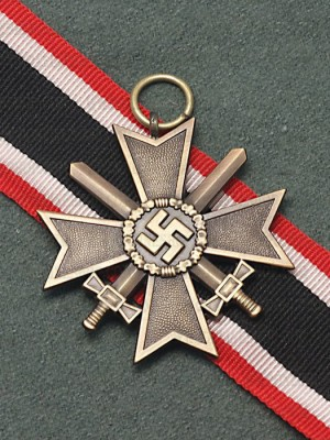 Replica of German WWII War Merit Cross 2nd Class with Swords (WWII German Medals) for Sale (by ww2onlineshop.com)