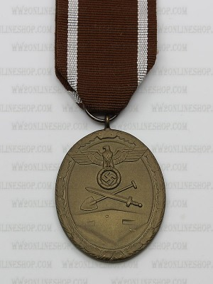 Replica of German WWII West Wall Medal (Deutsches Schutzwall-Ehrenzeichen)) (WWII German Medals) for Sale (by ww2onlineshop.com)