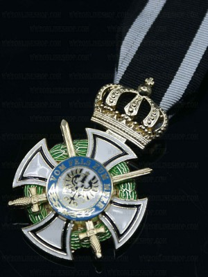 Replica of House Order of Hohenzollern with Swords (WWI Medals & Awards) for Sale (by ww2onlineshop.com)