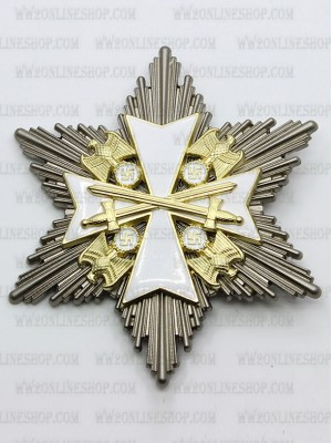 Replica of Order of the German Eagle, Star of the Grand Cross with Swords 2nd Class (WWII German Medals) for Sale (by ww2onlineshop.com)
