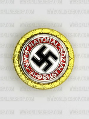 Replica of German WWII Golden Party Badge (Party & Sport Badges) for Sale (by ww2onlineshop.com)