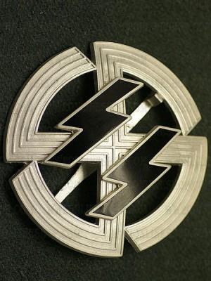 Replica of Germanic Proficiency Runes in Silver (German: Germanische Leistungsrune) (Party & Sport Badges) for Sale (by ww2onlineshop.com)