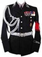 Allgemeine SS Officers M32 Black Wool Uniform Set#2